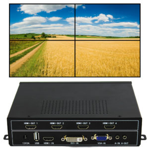 Video Wall Controller(232) 2X2 - iseevy HDMI VGA SDI Encoder