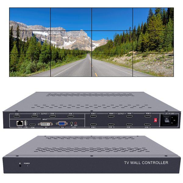 video wall controller 3x4 tv wall controller 4x3 2x6 6x2