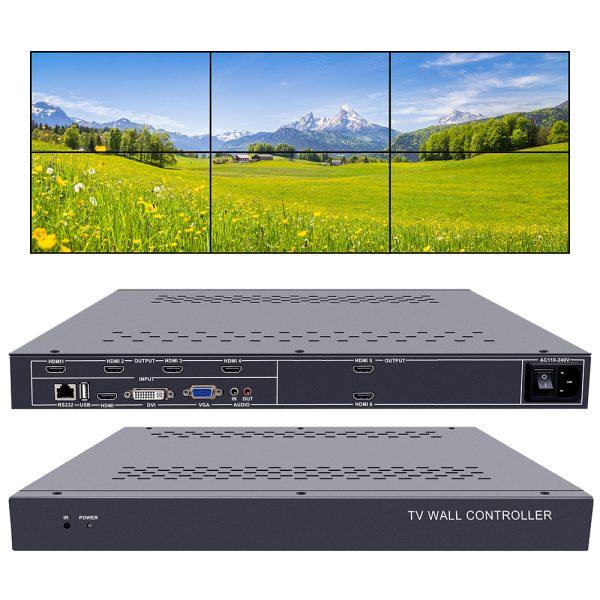 video wall controller 2x3 tv wall controller 3x2