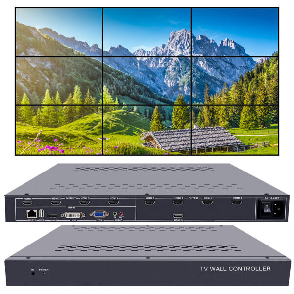 video wall controller 3x3 tv wall controller 2x4 4x2