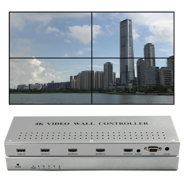 ISV-TWC4K4 4K video wall controller 2x2 1x2 1x3 1x4 4x1 3x1 2x1