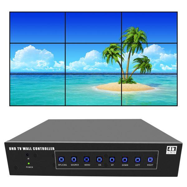 4k video wall controller 3x3 uhd tv wall controller 2x4