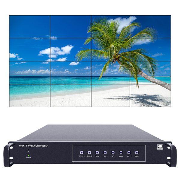 16ch 4K60 UHD Video wall controller 4x4 3x5 5x3
