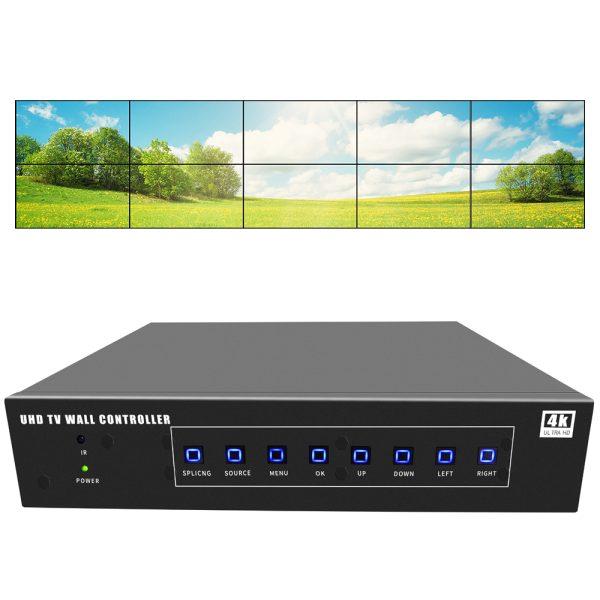 uhd video wall controller 2x5 4k tv wall controller 5x2